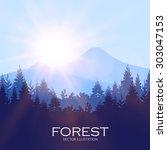 modern shining landscape...   Shutterstock .eps vector #303047153