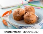 carrot muffins for healthy kids ...   Shutterstock . vector #303048257