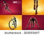 Stock photo sports background 303055697