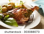 Duck Leg  Stewed With Red Wine