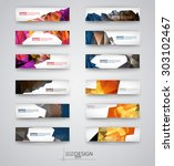 color banners set with... | Shutterstock .eps vector #303102467
