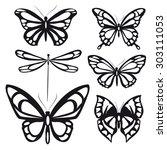 butterflies design | Shutterstock .eps vector #303111053