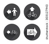 pedestrian road icon. bicycle... | Shutterstock .eps vector #303127943