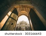 vintage style of sultan ahmed... | Shutterstock . vector #303166643
