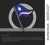 waving marshall islands flag...