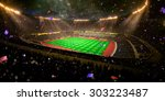 night stadium arena soccer... | Shutterstock . vector #303223487