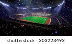 night stadium arena soccer... | Shutterstock . vector #303223493