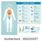 human body health care... | Shutterstock .eps vector #303224357