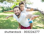 enjoying childhood at summer... | Shutterstock . vector #303226277