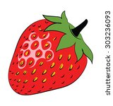 strawberry colored sketchy... | Shutterstock .eps vector #303236093