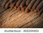 Background  Pile Of Small Ciga...