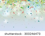 confetti party background... | Shutterstock .eps vector #303246473