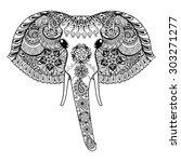 zentangle stylized indian...   Shutterstock .eps vector #303271277