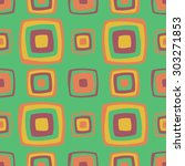 seamless geometric vintage... | Shutterstock .eps vector #303271853