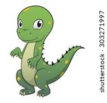 little dinosaur vector | Shutterstock .eps vector #303271997