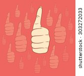 thumb up or like symbol... | Shutterstock .eps vector #303272033