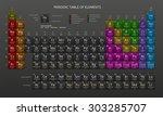 mendeleev's periodic table of... | Shutterstock .eps vector #303285707