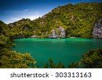 thale nai lagoon  mae koh...   Shutterstock . vector #303313163