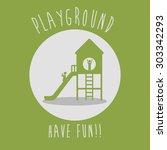 playground digital design ... | Shutterstock .eps vector #303342293