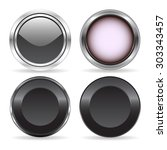 four abstract technology buttons | Shutterstock .eps vector #303343457
