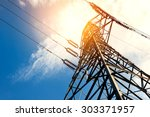 high voltage post or high... | Shutterstock . vector #303371957
