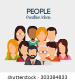 people digital design  vector... | Shutterstock .eps vector #303384833