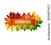 Autumn Sale Vector Banner ...