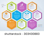 vector rhombus template for... | Shutterstock .eps vector #303430883