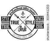homemade tattoo t shirt design. ... | Shutterstock .eps vector #303441203
