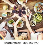 food lunch celebration party... | Shutterstock . vector #303459797