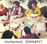 diverse architect people group...   Shutterstock . vector #303468917