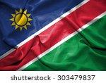 namibia flag. illustration | Shutterstock . vector #303479837