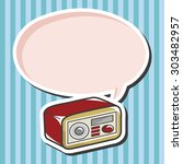 style radio theme elements... | Shutterstock .eps vector #303482957
