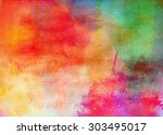 Abstract Colorful Watercolor...