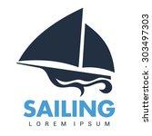 boat logo template | Shutterstock .eps vector #303497303
