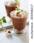 homemade chocolate egg cream ... | Shutterstock . vector #303508217