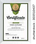 certificate template with... | Shutterstock .eps vector #303510437