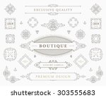 set of vintage decorations... | Shutterstock .eps vector #303555683