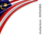malaysia flag of silk with... | Shutterstock . vector #303565883
