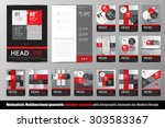 abstract geometric brochure... | Shutterstock .eps vector #303583367