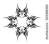 tribal tattoos design element.... | Shutterstock .eps vector #303588383