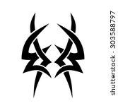 tattoo tribal vector designs.... | Shutterstock .eps vector #303588797
