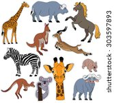 set of the stickers with a... | Shutterstock .eps vector #303597893