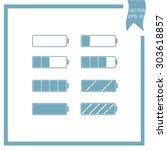 battery icons | Shutterstock .eps vector #303618857