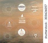 set of hand drawn vector badges ...   Shutterstock .eps vector #303626057