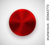 red abstract circle badge ...