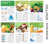 health and nutrition food by... | Shutterstock .eps vector #303677363