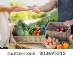 Close Up View Of A Farmer And...