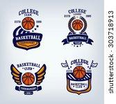 basketball club emblem  college ... | Shutterstock .eps vector #303718913