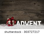christmas present or gift with... | Shutterstock . vector #303727217